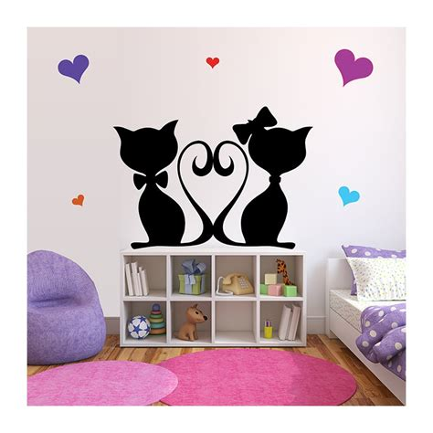 Charmant Stickers Arbre Chambre Enfant #1: Stickers-chambre-bebe-chats-roses.jpg