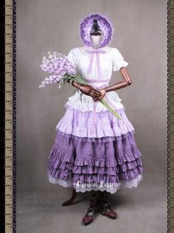 Sb22 Violet Purple White Vintage Op Dress Replica classical puppets elisabeth elegy one jsk dress