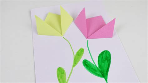Basteln Mit Papier Blumen 3504 by Fr 252 Hlings Bild Mit Papier Blumen Deko Basteln Und Falten