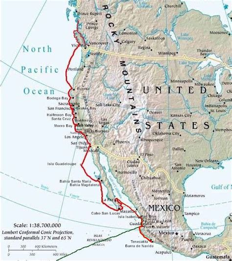 map of west coast of usa american west map pictures to pin on pinsdaddy