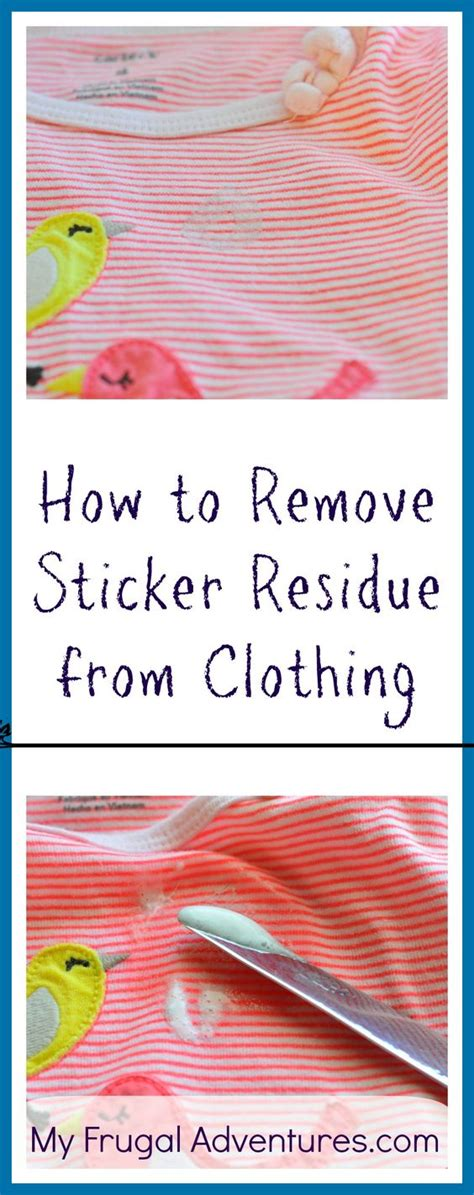 How To Remove Sticker Residue From Clothes how to remove sticker residue from clothing remove