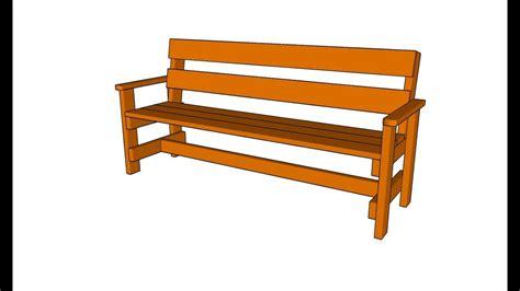 build  garden bench youtube
