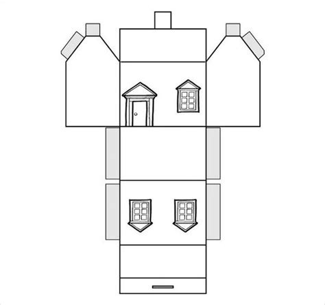 paper house templates to print paper house template 19 free pdf documents