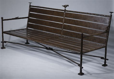 wrought iron bench with cushion wrought iron benches with natural linen cushions t3545