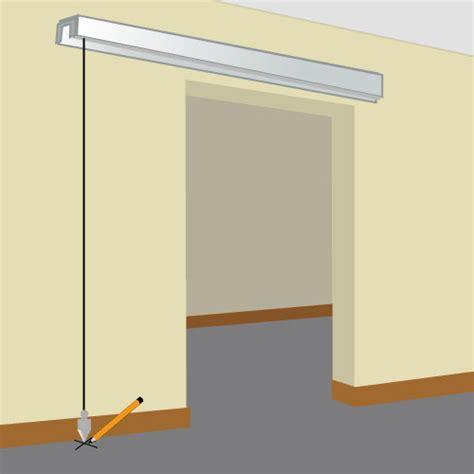 pose porte de coulissante installer une porte coulissante porte