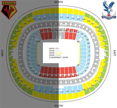 tottenham wembley seating plan away fans fa cup semi official ticket information seating