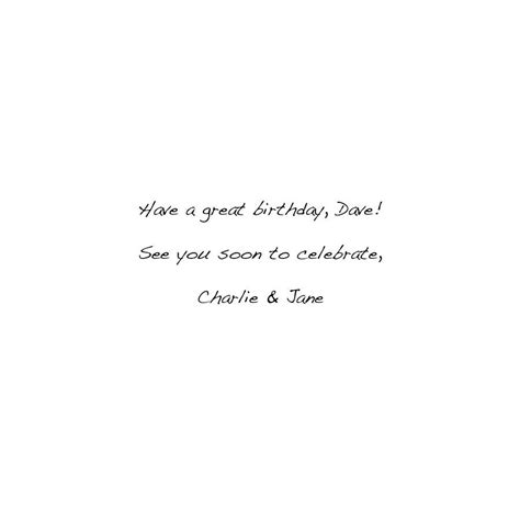 inside card message template personalised happy birthday card by the green