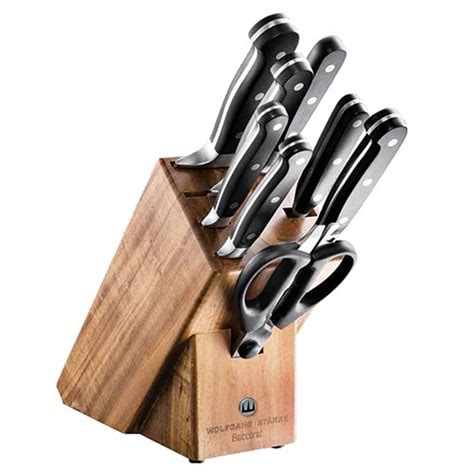 kitchen knives block baccarat wolfgang starke 9 knife block knife