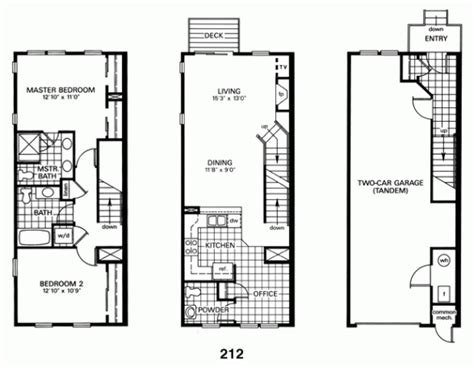 Row Home Plans by Baltimore Row House Floor Plan Architecture Interior