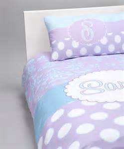 Personalized purple damask amp dots bedding set baby n toddler