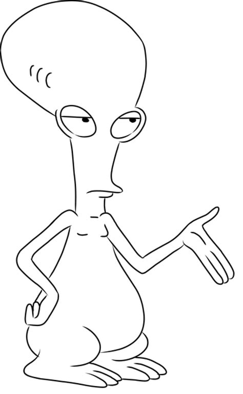 american dad roger drawings sketch coloring page