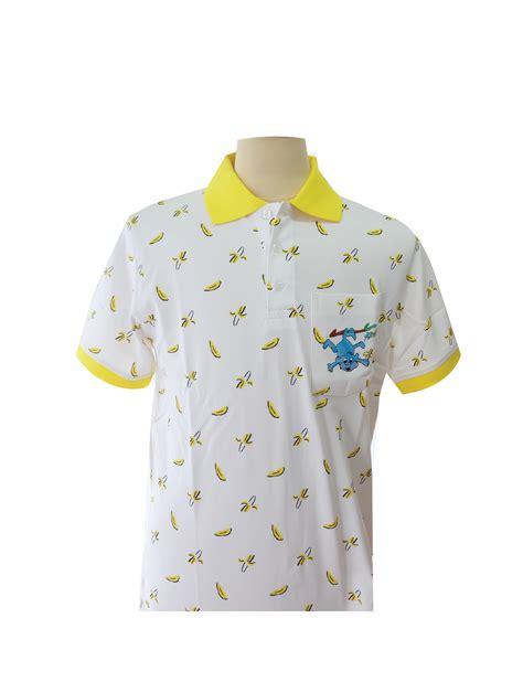 pattern bright yellow shirt yellow polo shirt printed pattern year of the monkey phufa