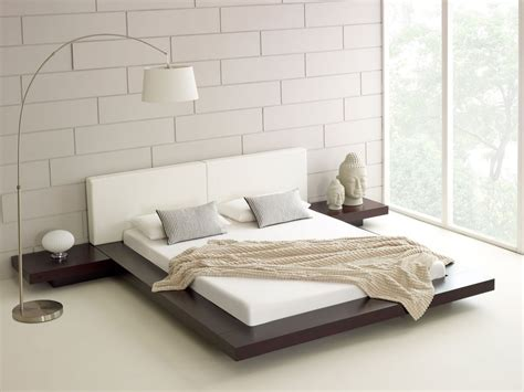 contemporary white japanese bed design  unique white floor apartment pinterest