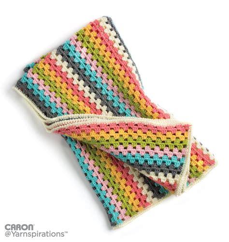 caron yarn website pattern is cn0986 caron granny stripes afghan crochet pattern yarnspirations