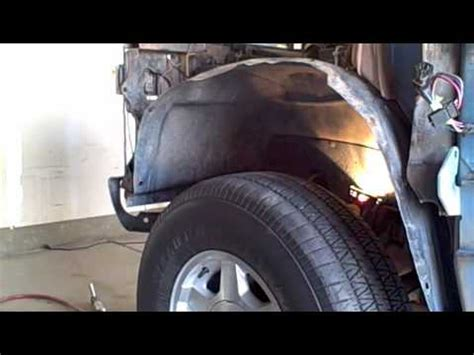 chevy driver fender removal youtube