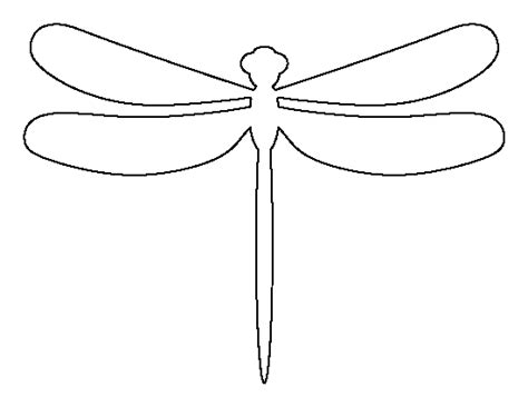 Dragonfly Template dragonfly pattern use the printable outline for crafts