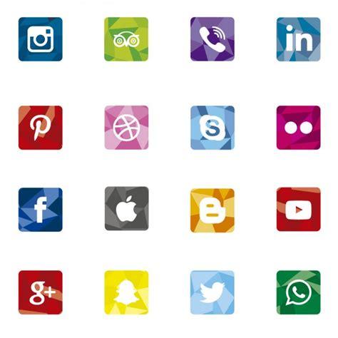 free sosial network icon poligonal social media icons vector free download