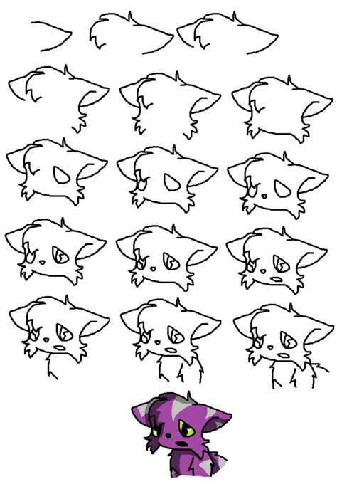 how to draw a cat 2 sad cat by milesthfox on deviantart