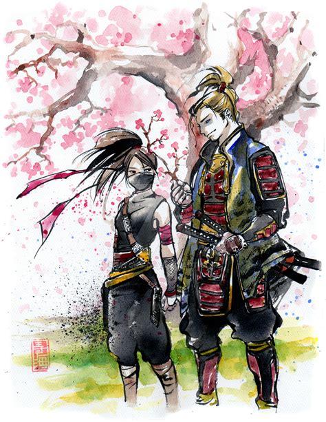samurai brother vs ninja sister ninja girl and samurai by mycks on deviantart