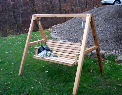 patio swing with stand red cedar american classic porch swing w stand
