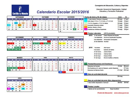 Calendario Learning 2015 Calendario Escolar 2015 2016 Cra Air 233 N Los Hinojosos