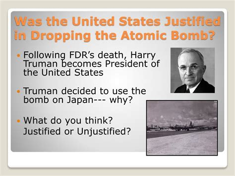 Was The Dropping Of The Atomic Bomb Justified Essay Introduction by Ppt World War Ii Powerpoint Presentation Id 280741