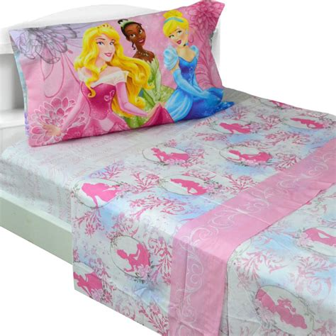 princess bedding full disney princess full bed sheet set dreams in bloom bedding
