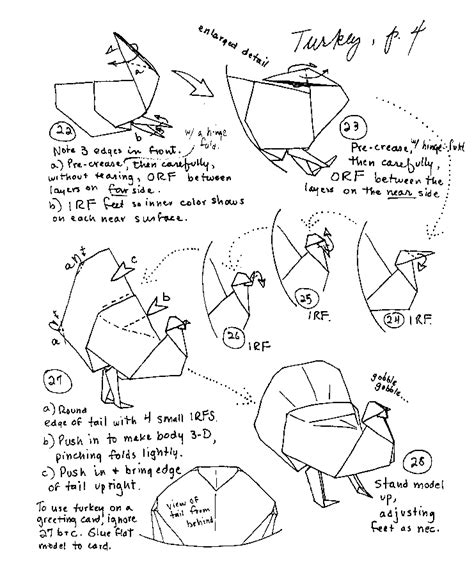 printable origami turkey instructions origami duck instructions www pixshark com images