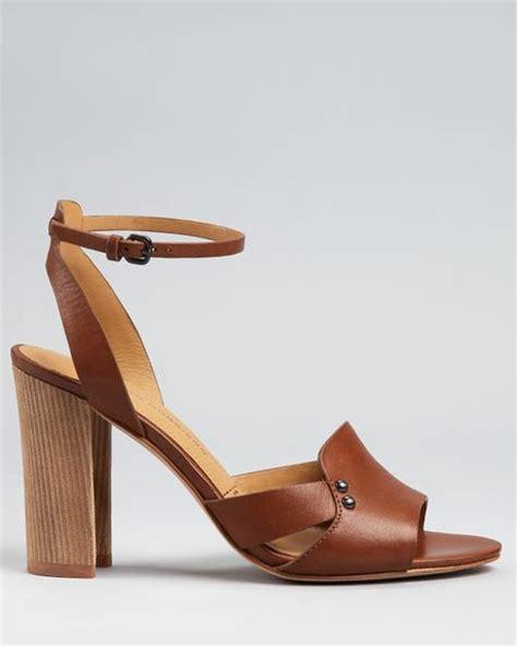 cognac high heel sandals sigerson morrison sandals bunch high heel in brown cognac