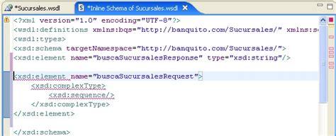 design pattern xml schema creando un servicio web a partir de su interfaz wsdl