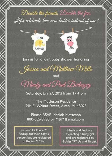 Joint Baby Shower by Joint Baby Showers Baby Shower Invitations And Shower