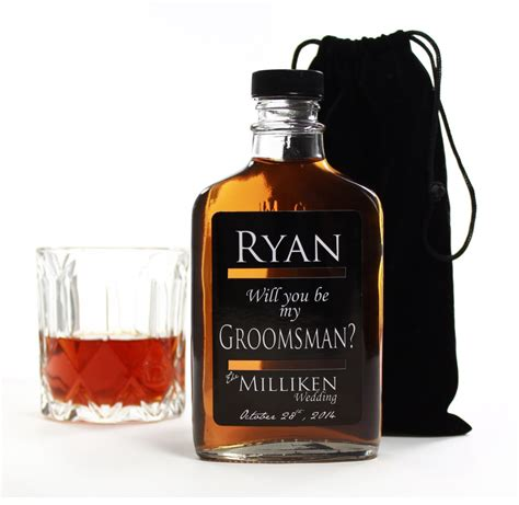 best personalized gifts will you be my best man groomsmen gifts personalized flasks