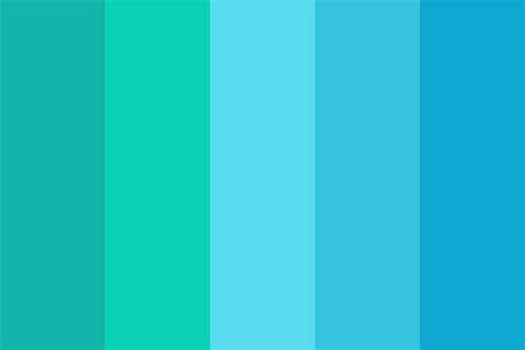 aquarius colors aquarius waves color palette