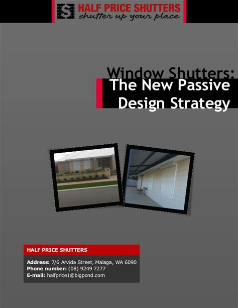 layout strategy slideshare window shutters the new passive design strategy