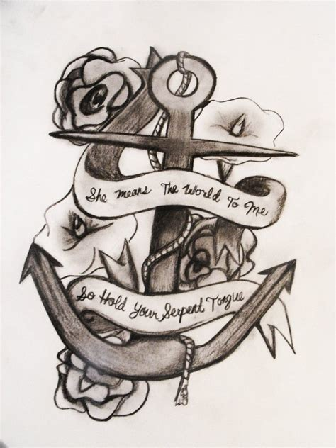 amazing banner anchor symbol tattoo design tattooshunt com