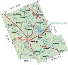 map of comanche comanche county almanac