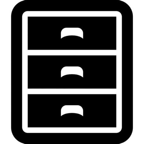 icone lade meubel met drie laden iconen gratis