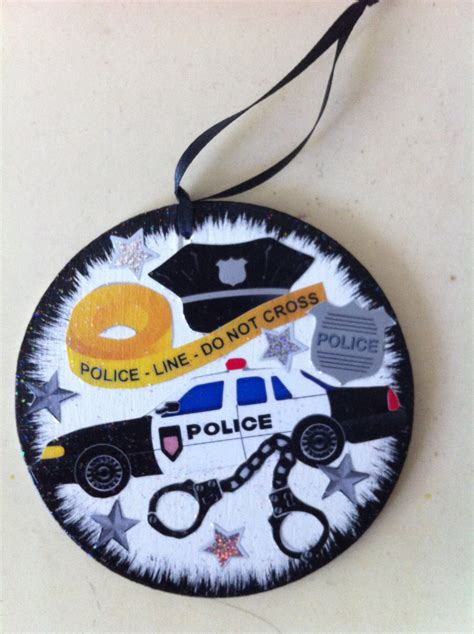 police christmas ornament or gift tagfree personalization