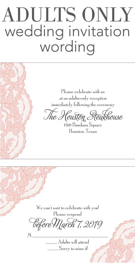 E Wedding Invitation Wording by Adults Only Wedding Invitation Wording Wedding Help