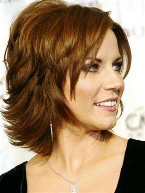 Hair Styles For The Over 50s Heavily Layered Into The Neck | 30 haircuts for women with bangs
