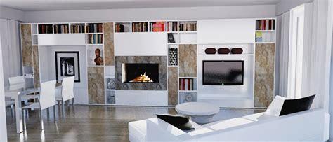 librerie poco profonde parete attrezzata per il living cose di casa