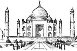 picture of taj mahal southern view coloring page netart