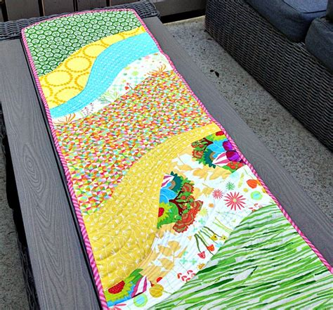 pattern for quilt as you go table runner happy fabric pitch it to win it summer days at mad