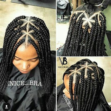 triangle pattern dreads box braids w triangle part all about hair pinterest