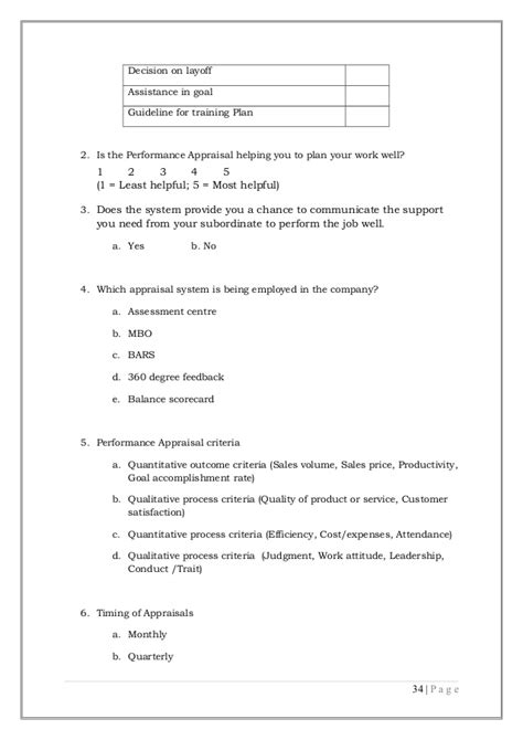 Performance Appraisal Project Report For Mba Pdf by Performance Appraisal Project Report
