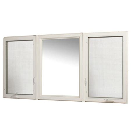vinyl awning window tafco windows 31 75 in x 15 75 in hopper vinyl window