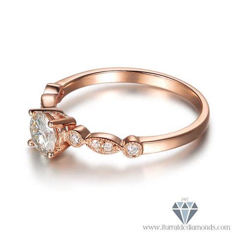 antique moissanite engagement ring deco pattern