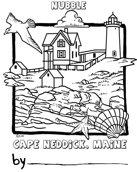 free lighthouses coloring pages