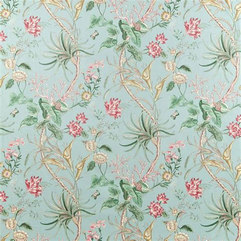 Traditional English Home Decor curtains in mauritius fabric rose duckegg dcavma202