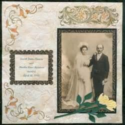 wedding scrapbook page vintage wedding day scrapbook layout favecrafts